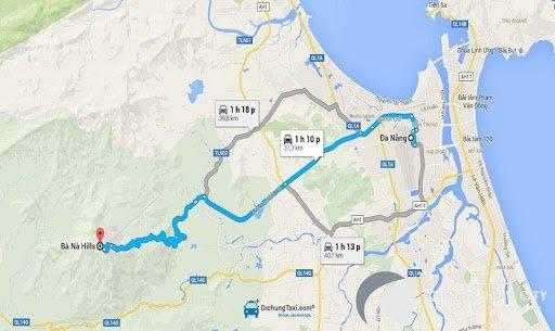 Từ Đà Nẵng đi Bà Nà bao nhiêu km