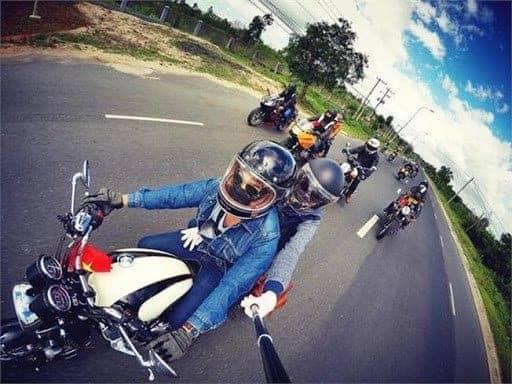 Đi núi Thần Tài bằng xe máy